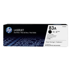 OEM HP 83A, CF283AD (2 Pack)  LaserJet Toner Cartridges Black - 1.5K