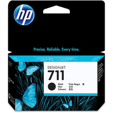 Original HP 711, CZ129A DesignJet Ink Cartridge - Black - 38ml