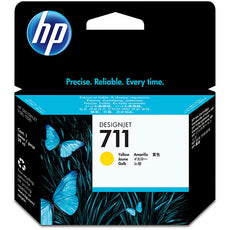 Original HP 711, CZ132A DesignJet Ink Cartridge - Yellow - 29ml