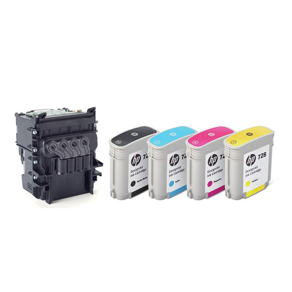 HP 729, F9J81A OEM Printhead Replacement Kit - Black and TriColor
