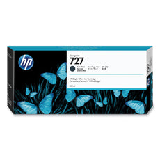 OEM HP 727, C1Q12A DesignJet Ink Cartridge - Matte Black - 300ml
