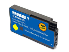 Compatible HP 951XL, CN048AN Ink Cartridge For OfficeJet Pro 8600 Yellow - 1.5K