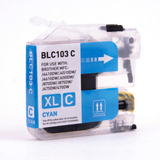 Compatible Brother LC103C, LC101C Ink Cartridge - Cyan - 600