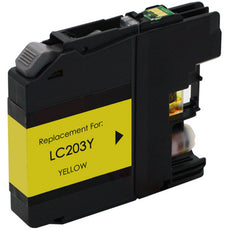 Compatible Brother LC203Y, LC203XL Ink Cartridge - Yellow - 550 Pages