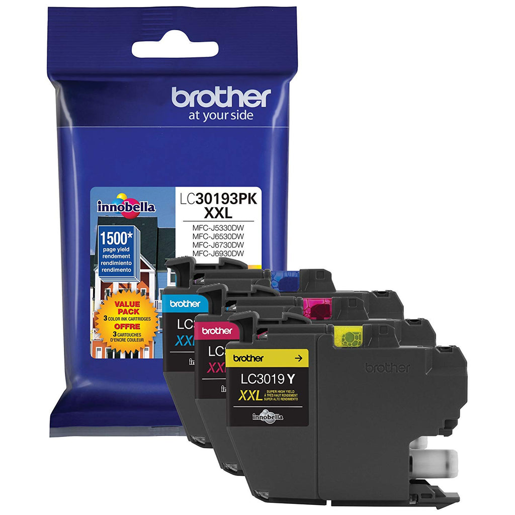 OEM Brother LC30193PKS Ink Cartridge For MFC-J5330DW - Black - High Yield 1.5K - 3PKS