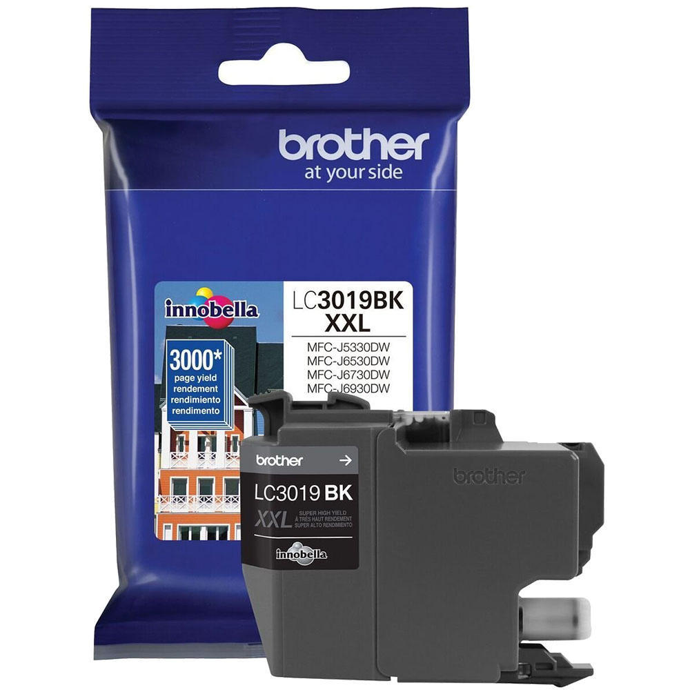 Brother LC3019BK OEM Ink Cartridge For MFC-J5330DW - Black - High Yield - 3K