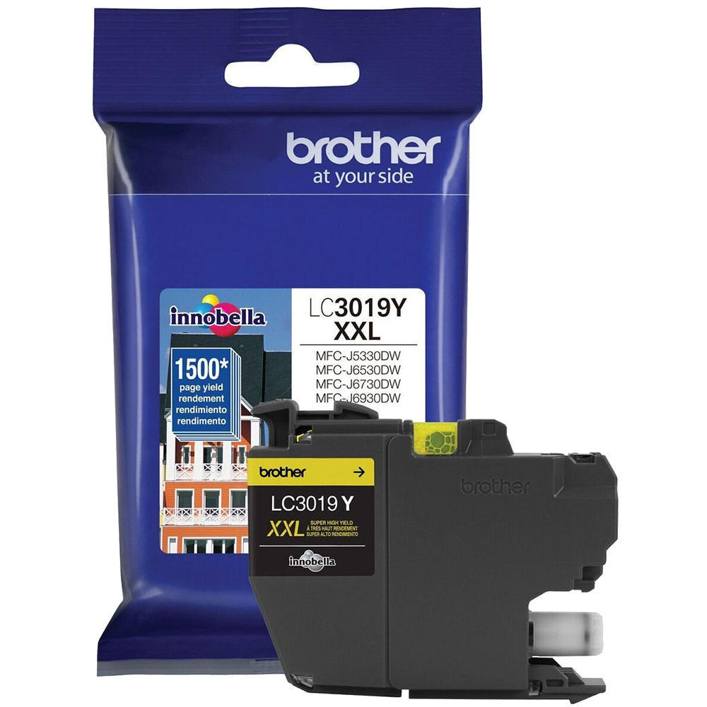 OEM Brother LC3019Y Ink Cartridge For MFC-J5330DW - Yellow - High Yield - 1.5K