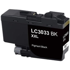 Compatible Brother LC3033BK Ultra Ink Cartridge - High Yield - Black - 3K