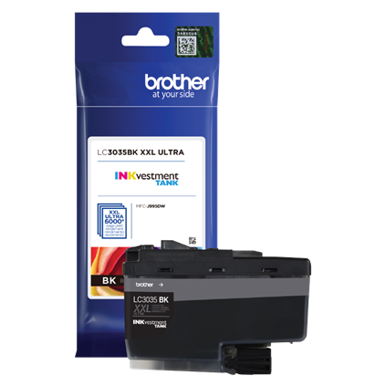 Brother LC3035BK OEM Ultra Ink Cartridge - High Yield - Black - 6K