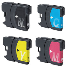 Compatible Brother LC-61 Ink Cartridges for LC61BK, LC61C, LC61Y, LC61M - Value Pack