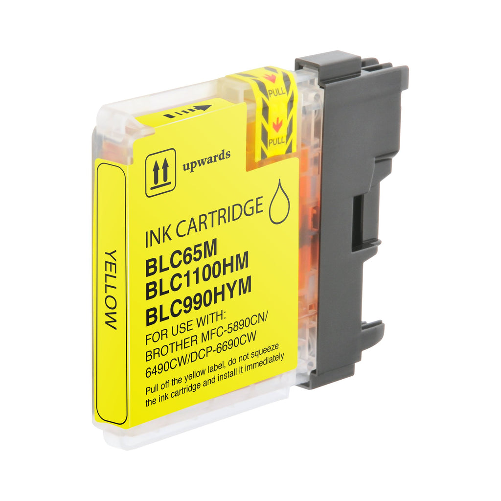 Compatible Brother LC65Y, LC-65Y Ink Cartridge For DCP-6690, MFC-6890 Yellow - 750