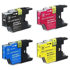 Compatible Brother LC-75 Ink Cartridges for LC75BK, LC75C, LC75Y, LC75M - Value Pack