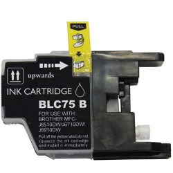 Compatible Brother LC75BK, LC-75BK Ink Cartridge For MFC-J6910DW, MFC-J835DW Black - 600