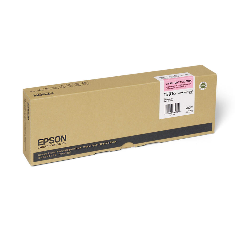 OEM Epson T591600 Ink Cartridge - Light Magenta (700ML)