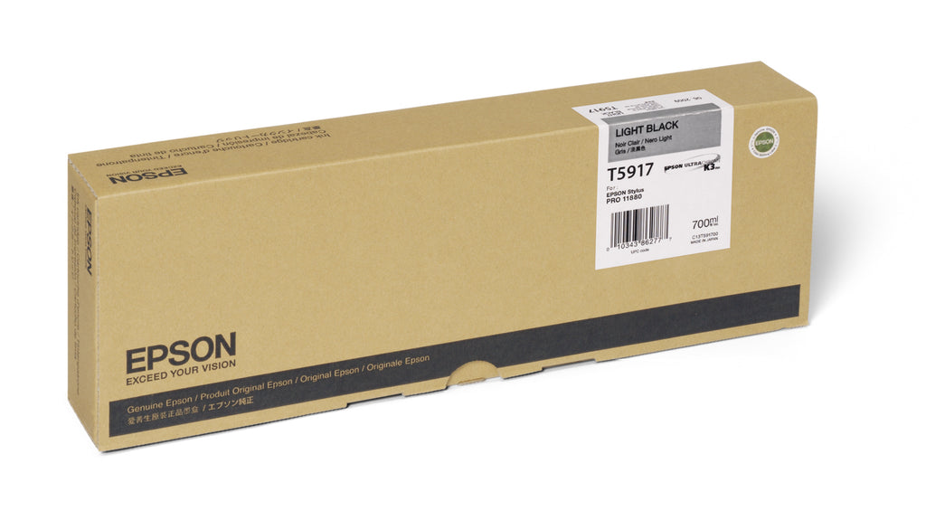 OEM Epson T591700 Ink Cartridge - Light Black (700ML)