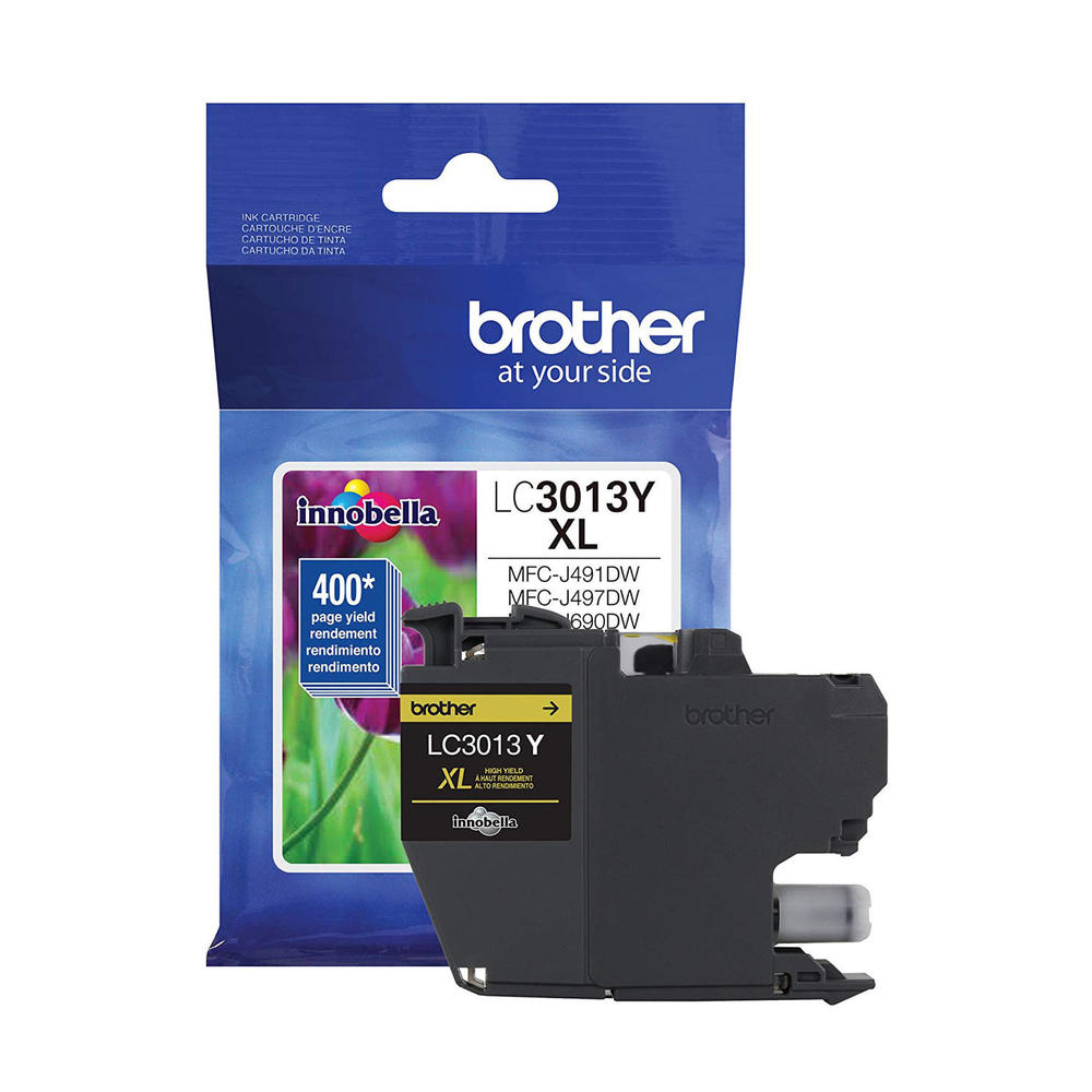 OEM Brother LC3013Y, LC3013YS Inkjet Ink Cartridge - Yellow - 400 Pages - 1 Pack