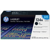OEM HP Q6000AD Dual Pack Toner Cartridge, HP 1600 Black - 2.5K