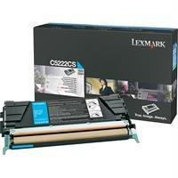 OEM Lexmark C5222CS Toner Cartridge - Cyan (3,000 Yield)
