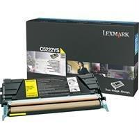 OEM Lexmark C5222YS Toner Cartridge - Yellow (3,000 Yield)