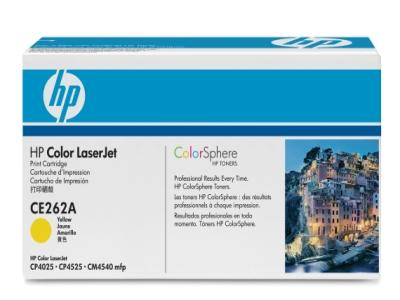 OEM HP CE262A, 648A Laser Toner Cartridge - Yellow - 11K