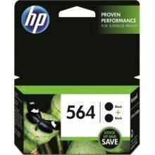 Original HP 564, C2P51FN Inkjet Cartridge - Black - 2 / Pack - 250 Pages Per Ink Cartridge