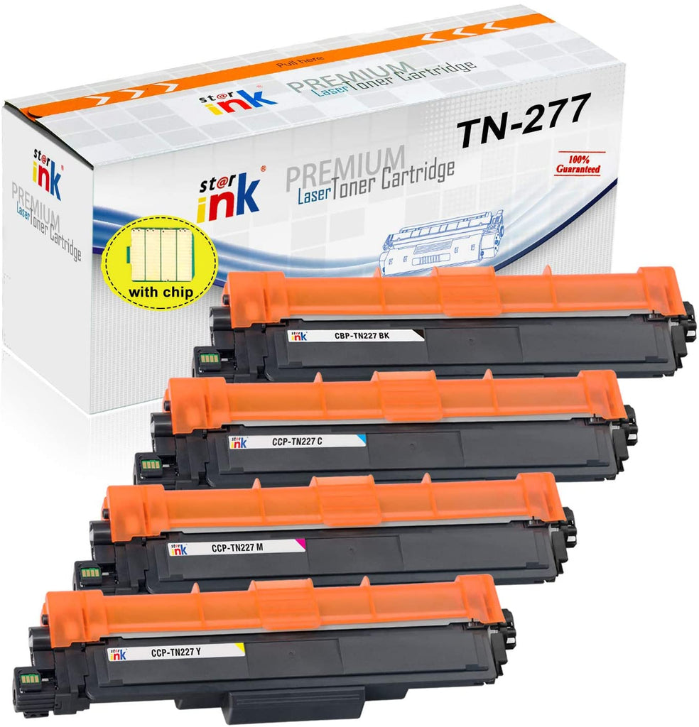 Starink Compatible Brother TN227 Toner Cartridges (BCYM) - 4 Pack - 3000 Pages