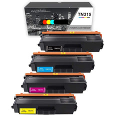 Compatible Brother TN-315 Toner Cartridges TN315BK, TN315C, TN315M, TN315Y - Value Pack