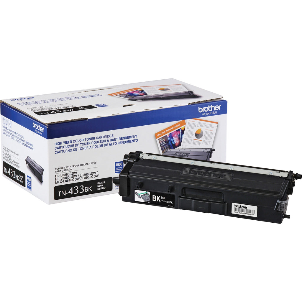 OEM Brother TN433BK, TN-433BK Toner Cartridge - Black - Standard Yield - 4.5K