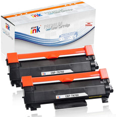 StarInk Compatible Brother TN760 Toner Cartridge, Black (2 Pack) 3K each