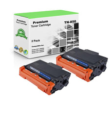 Compatible Brother TN850, TN-850 Toner Cartridge - Black - 8.5K (2 Pack)