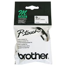 Brother MK221 BLACK ON WHITE NON-LAMINATED TAPES - 9MM