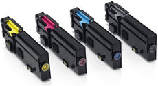 Compatible Dell C2660 Toner Cartridges for Black, Cyan, Yellow, Magenta - Value Pack