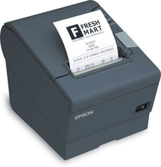 Epson TM-T88V Monochrome Direct Thermal Printer - USB, Serial Interfaces. Includes power supply (Dark Gray)