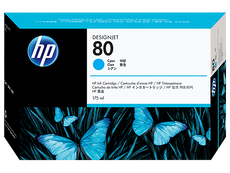Original HP 80, C4872A DesignJet Ink Cartridge - Cyan - 175ml