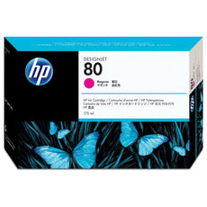 Original HP 80, C4874A Designjet Ink Cartridge - Magenta - 175ml