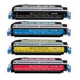Compatible HP 642A Toner Cartridges for CB400A, CB401A, CB402A, CB403A - Value Pack