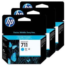 Original HP 711, CZ134A DesignJet Ink Cartridges - Cyan - 29ml x 3 Pack