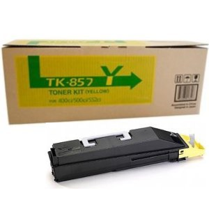 Kyocera Mita TK-857Y, 1T02H7AUS0 OEM Toner Cartridge For TASKalfa 400ci Yellow - 18K