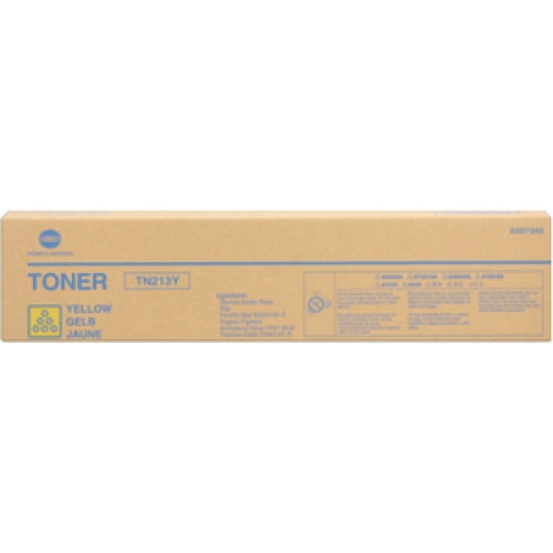 Konica Minolta AOD7232, TN213Y OEM Toner Cartridge For Bizhub C203 Yellow - 19K