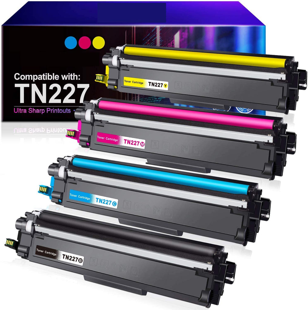 8-Pack Replacement Toner Cartridge Compatible for Brother TN-227 TN227 MFC-L3770CDW L3730CDW HL-3210CW 3230CDW 3290CDW DCP-L3510CDW L3550CDW Printer Toner Cartridge 5BK+1C+1M+1Y