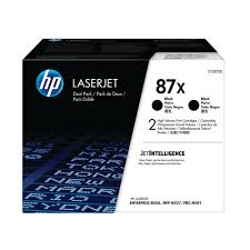 OEM HP 87X, CF287XD (2 Pack) LaserJet Toner Cartridge Black - 18K