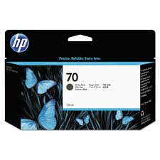 OEM HP 70, C9448A DesignJet Ink Cartridge - Matte Black - 130ml