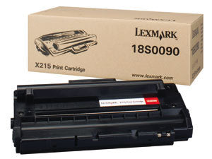 Lexmark 18S0090 OEM Toner Cartridge For X215 Black - 3K