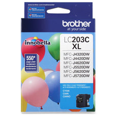 OEM Brother LC203C Ink Cartridge - Cyan - High Yield - 550 Pages