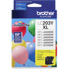 OEM Brother LC203Y Ink Cartridge - Yellow - High Yield - 550 Pages