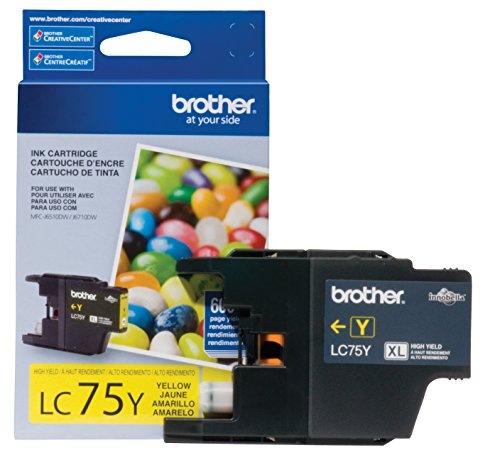 Brother LC75Y OEM Ink Cartridge For MFC J280W Yellow - 600