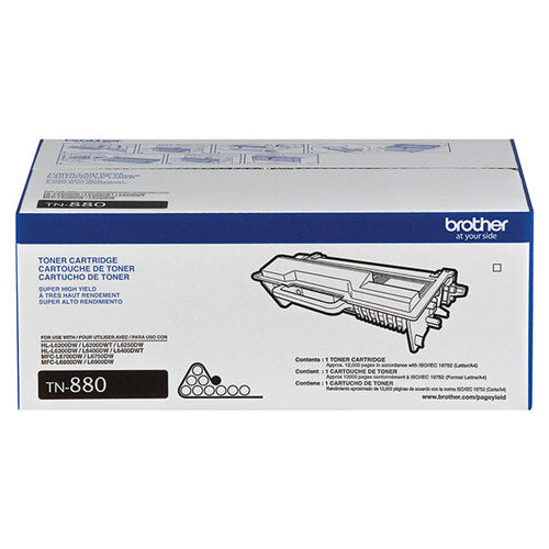 OEM Brother TN880 Toner Cartridge Super High Yield (12,000 Yield)