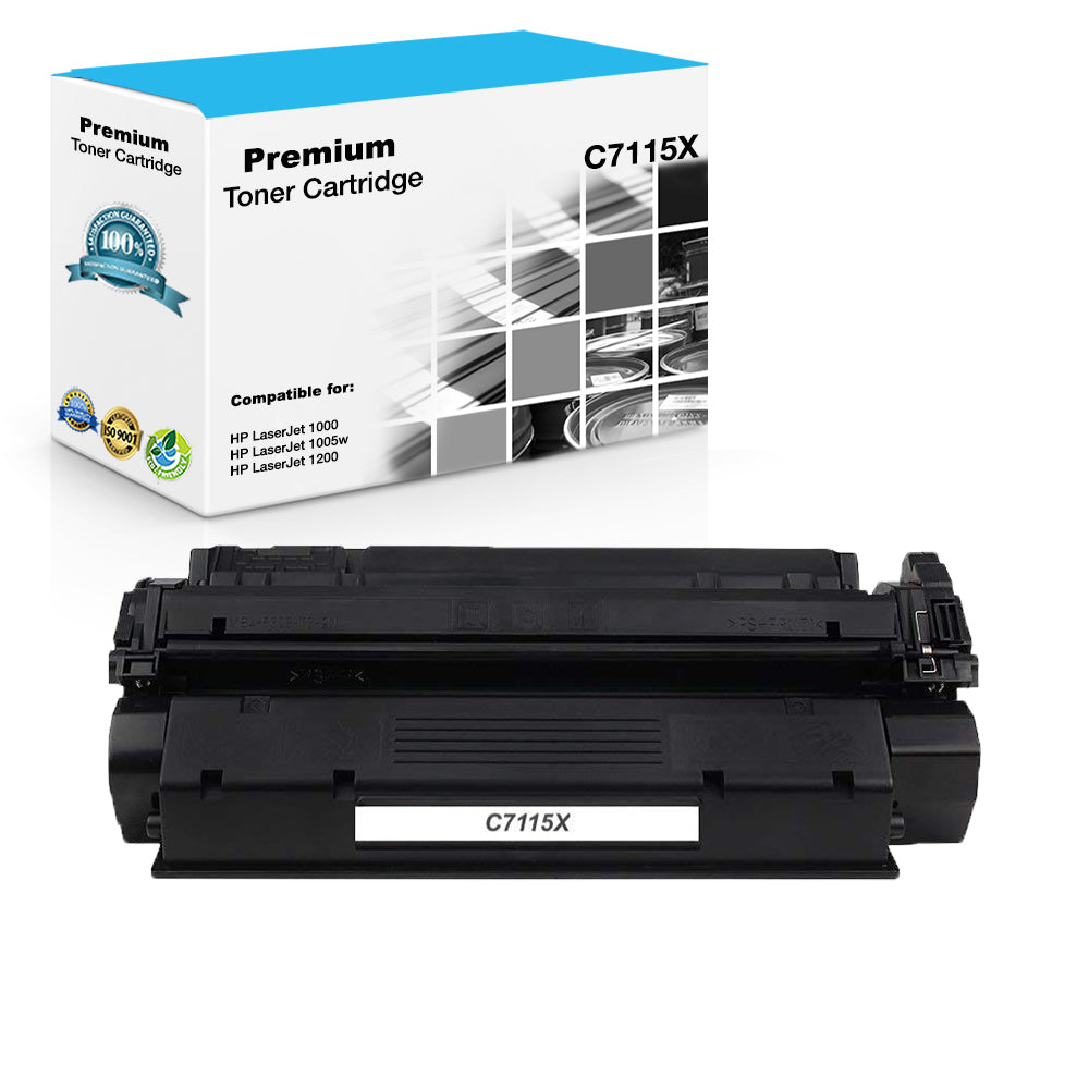 Compatible HP C7115X, 15X Toner Cartridge - Black - 3.5K