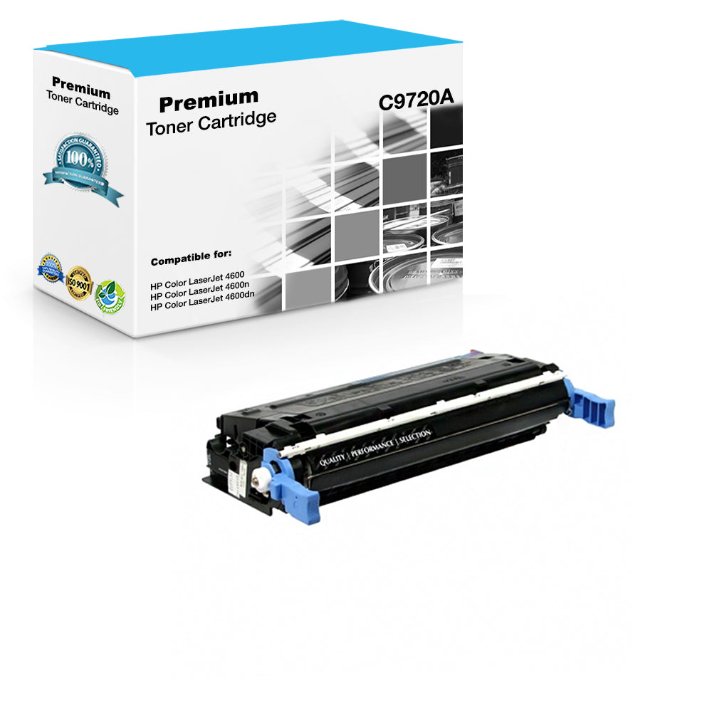 Compatible HP C9720A, 641A Toner Cartridge For Color LaserJet 4600, 4650 Black - 9K