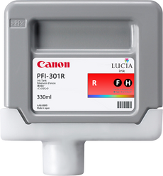 Canon 1492B001, PFI-301R OEM Ink Cartridge Red - 330ml